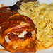 Chicken Parm and Egg Noodles