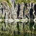 Vertical limestone layers - Strati di roccia calcarea verticali
