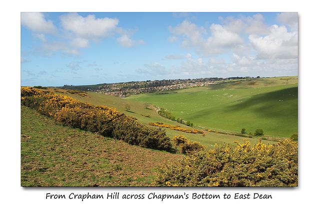 Across Chapman's Bottom to East Dean - East Sussex - 30.4.2015