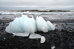 Ice shapes, Vatnajökull , Jökulsárlón, Diamond beach