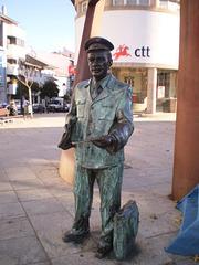 Statue of postman.