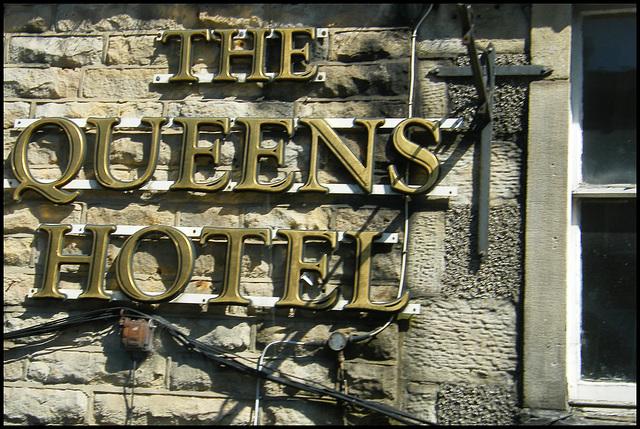 Queens Hotel sign