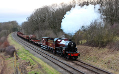 LMS Crab no 13065  passes Kinchley lane with Freight