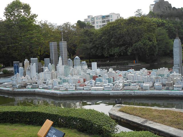 Monuments en miniatures, ville de Shenzhen parc, en Chine