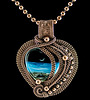 Ocean Heart Bead Pendant