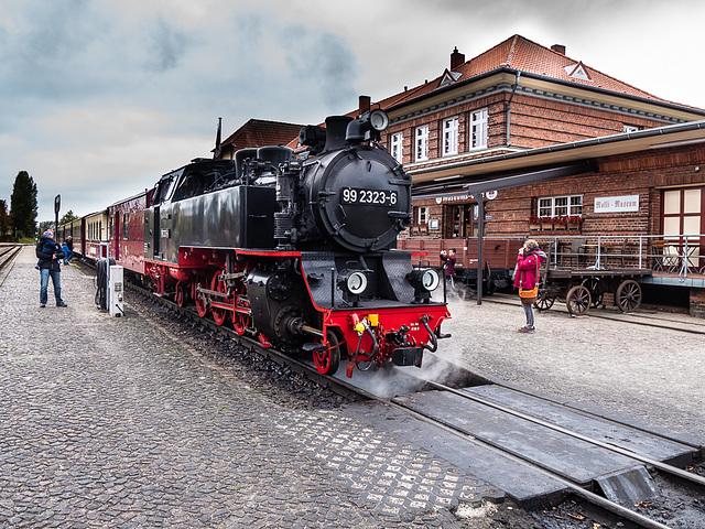Molli im Bahnhof Kühlungsborn West