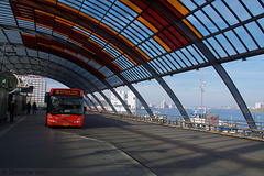 the bus station