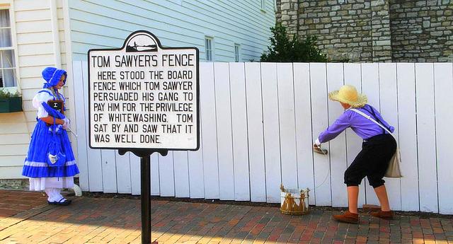 Anekdotoj pri Mark Twain (04) Hanibalo en Misurio (kun la latbarilo de Tom Sawyer (per kiu oni lernas, kial ekzistas kapitalistoj kaj proletoj)