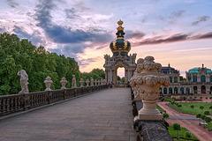 Das Kronentor im Zwinger von Dresden