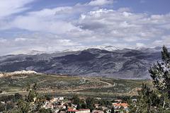 Mount Hermon Under Snow – Viewed from Metulah, Upper Galilee, Israel