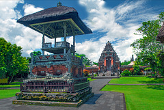 Outside Yard of Pura Taman Ayun