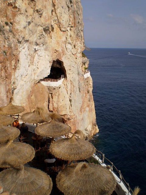 Terrace on the cliff.