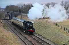 B.R  Standard Class 2  no 78018 passes woodthorpe heading to Quorn and Woodhouse