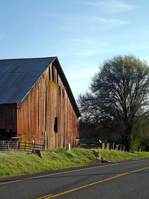 Barn on the road