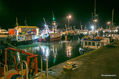 Burghead harbour at night