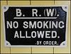 No Smoking notice