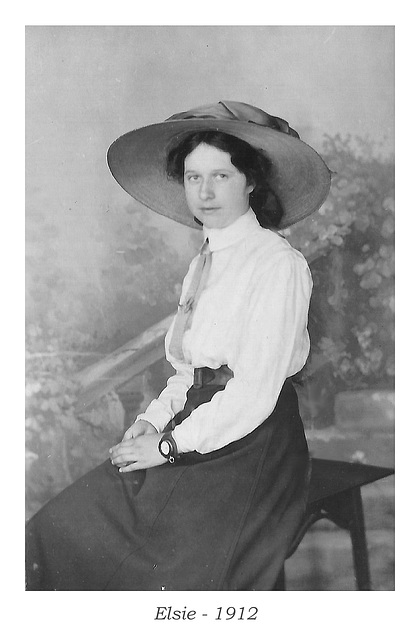 Elsie 1912 with hat and watch