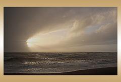 Rain cloud almost blown away - Seaford Bay - 24.12.2015