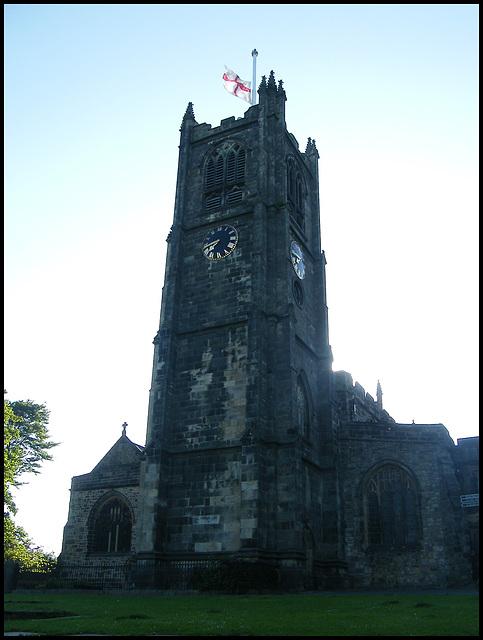 Lancaster flag at half mast