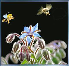 Biene Maja als Fluglotse für BeeAir am Airport Borretsch… ©UdoSm