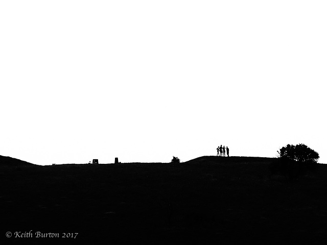 Old Winchester Hill - Silhouettes