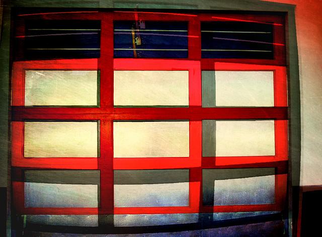 Garage door abstract