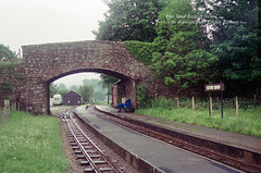 Irton Road Railway Station on the Ravenglass and Eskdale Railway (Scan from 1993)