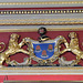 drapers hall, london city livery company,court dining room , 1667-71 arms of the drapers company