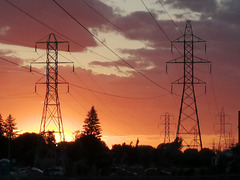 Powerline sunset IMG 20210613 161913
