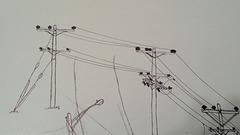 Power Line Drawing #4 (work in progress)