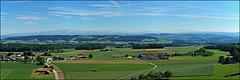 Aussicht auf Wäldi - den Säntis - die Churfirsten und die Glarner Alpen