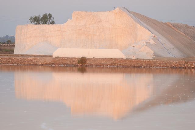 Castro Marim, Salt iceberg, dawn