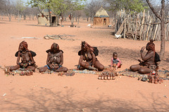 Namibia, Gift Market in the Himba Village of Onjowewe