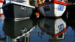 Scarborough Harbour Reflections 1