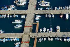 Die Bootsstege von Cefalu