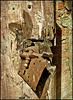 # 26 Rusty lock on the door of the church in ruins.EXPLORE