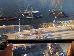 Overlooking rabelos boats.