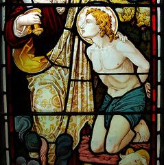 Detail of chancel window, Fenny Bentley Church, Derbyshire