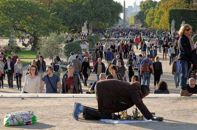Foule aux Tuileries