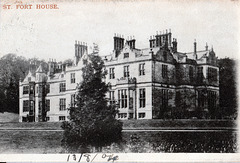 """St Fort House, Fife, Scotland, """"Demolished) from an early postcard"""