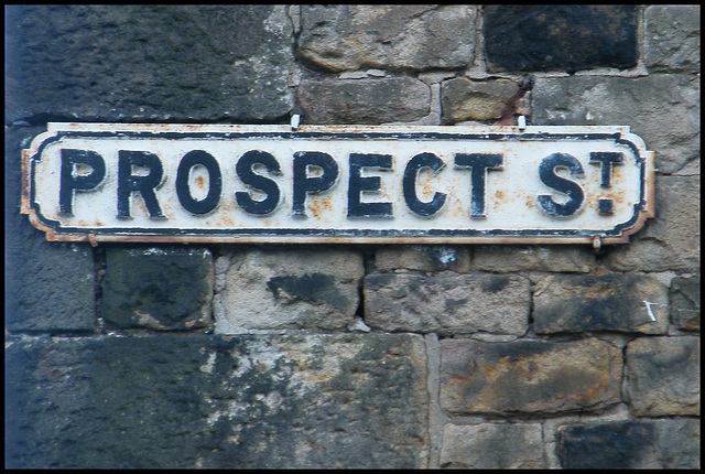 Prospect Street sign