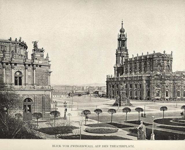 Album von Dresden: Theaterplatz