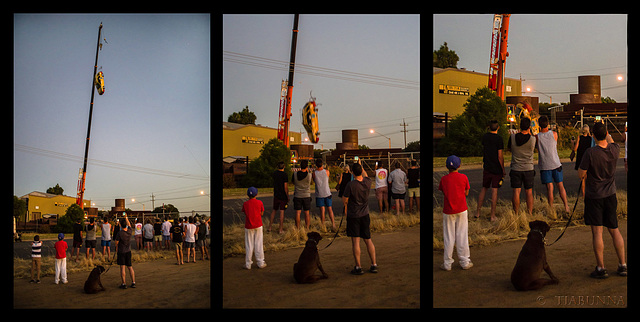 Car drop triptych