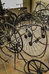 Part of the cycle collection at Brooklands Museum