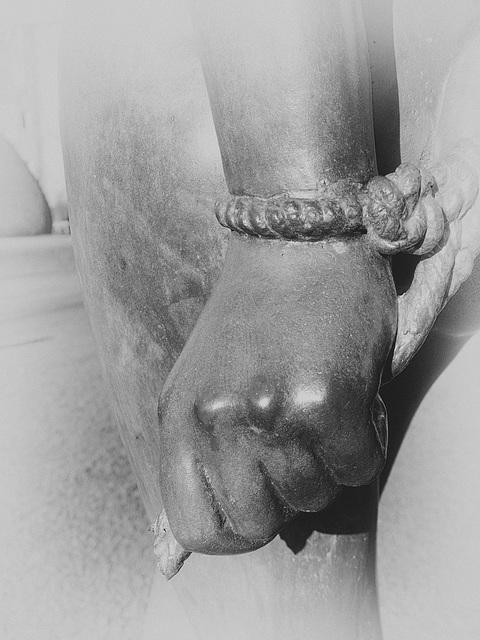 The bound hands of 'Vanishing Dream'.