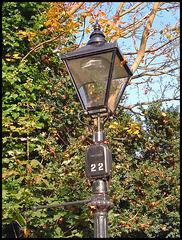 lamp in autumn