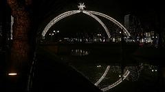 """""""Lichtdom"""" auf der Königsallee / Kö - Brücke Steinstraße, 1xPiP"""