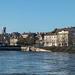 BESANCON: Panoramique su quai de Strasbourg.