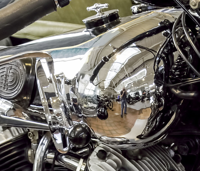 Brough Superior Tank reflection