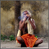 """Smoking ganja"" - Orchha - Uttar Pradesh - INDIA"